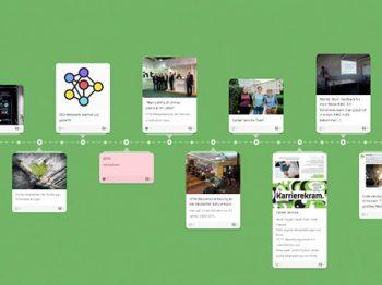 timeline mit projekthighlights für projektabschluss